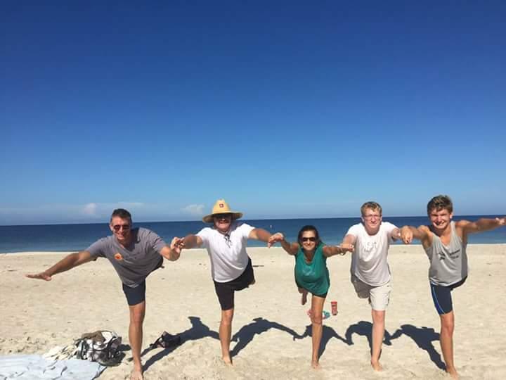 Beach yoga Nokomis Beach